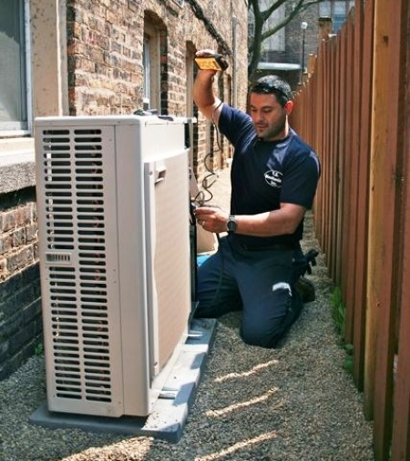 Heating contractor -install new air conditioning unit